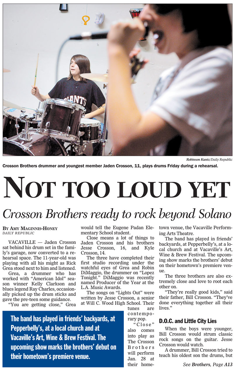crosson brothers news clipping